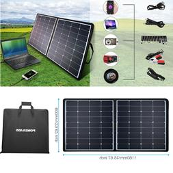 100W / 50W Flexible Solar Panel Kits System Boat RV Car 12V