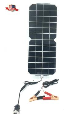 5W 12V/5V DC Waterproof Battery Solar Panel USB Home Phone R