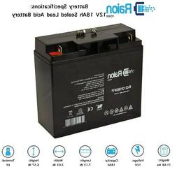 Raion Power 12V 18Ah Merits P120-Feather Wheelchair Battery