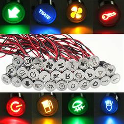 12v 24v 12mm metal led dash panel