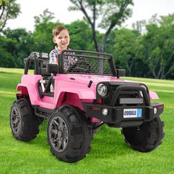 12V Electric Battery Kids Ride on Car Toys Truck LED MP3 W/