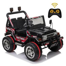 12V Jeep Electric Powered Kids Ride On Car Toys Battery w/ R
