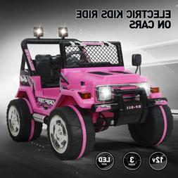12V Jeep Electric Ride-On Car For Children W/Parent Control