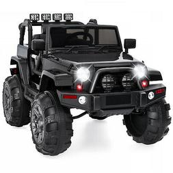 12V Kids Ride On Jeep Truck Car W/ Remote Control, 3 Speeds,