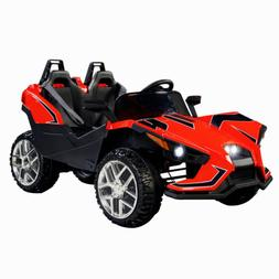 12V Kids Ride on Toys Electric Battery Racing Car W/RC & saf