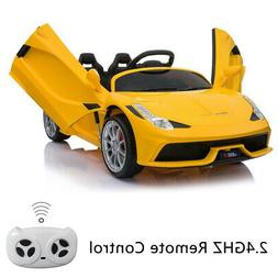 12V Luxury Kids Ride on Super Sports Car Toy Battery Power R