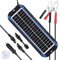 12v solar car battery charger and maintainer