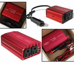 150/300W Car Power Inverter DC12V to AC110V Battery Clamp Ci