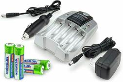 2-Hour Fast Battery Charger, Includes 4 AA Rechargeable Batt