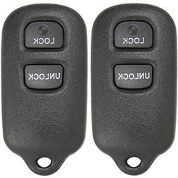 2 New Keyless Entry 3 Button Remote Car Key Fobs for Select