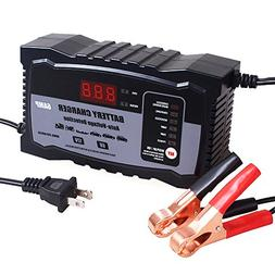 KATBO 2Amp 6 Amp Battery Charger 6V 12V Auto-Voltage Detecti