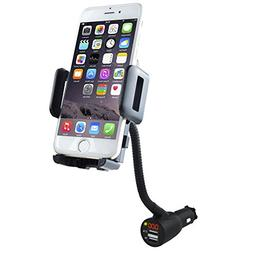 3-In-1 Multifunctional Car Mount + Car Charger + Voltage Det