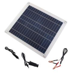 30W Solar Panel Trickle Battery Charger 12V/5V For Phone Car