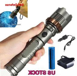 50000Lumens Zoom LED Flashlight Torch Rechargeable W/18650 B