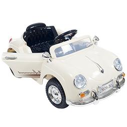 Ride On Toy Car, Battery Operated Classic Sports Car With Re