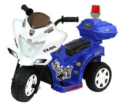 Kids Motorcycle 6-Volt Battery Police Riding Trike Electric