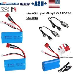 7.4V Lipo Battery Deans T Plug USB Battery Charger for RC Ca