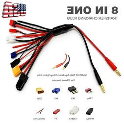 8 in 1 Lipo Battery Charger Charging Plug Convert Cable for
