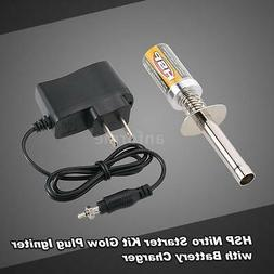 HSP Nitro Starter Kit Glow Plug Igniter with Battery Charger
