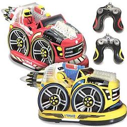 Kid Galaxy Remote Control Bumper Cars. RC 2 Player Game. 2 C