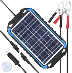 SUNER POWER 12V Solar Car Battery Charger & Maintainer - Por
