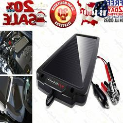 Battery Maintainer Solar Charger 12V Tender Car Trickle Moto