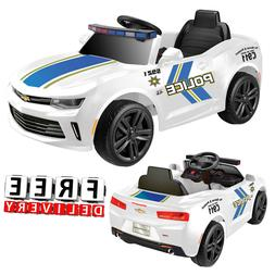 Battery Powered Police Car For Kids Ride On 6V Electric Cama
