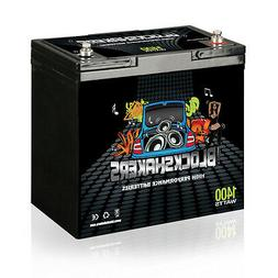 Black 12V 55AH 1400 Watts M6/T6 High Current Battery replace