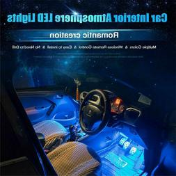 Car Interior RGB LED Strip Lights Foot Atmosphere Light With