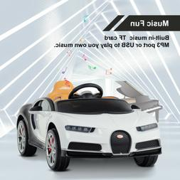 Electric 12V Kids Licensed Bugatti Chiron Ride On Car w/RC L