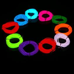 Flexible Neon LED Light Glow EL Wire String Strip Rope Tube