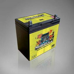 Green 12V 55AH 1400 Watts NB/T5 Car Audio Battery replaces X