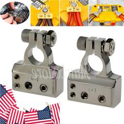 2pcs HEAVY DUTY Silver Plated Car Battery Terminals Positive