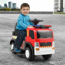 Kids Ride On Fire Truck 6V Car Battery Powered Electric Vehi
