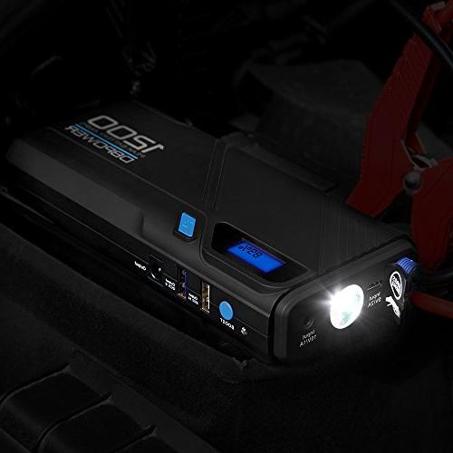 DBPOWER 1200A Portable Car Starter Car Booster & Charger QC3.0 LED Flashlight