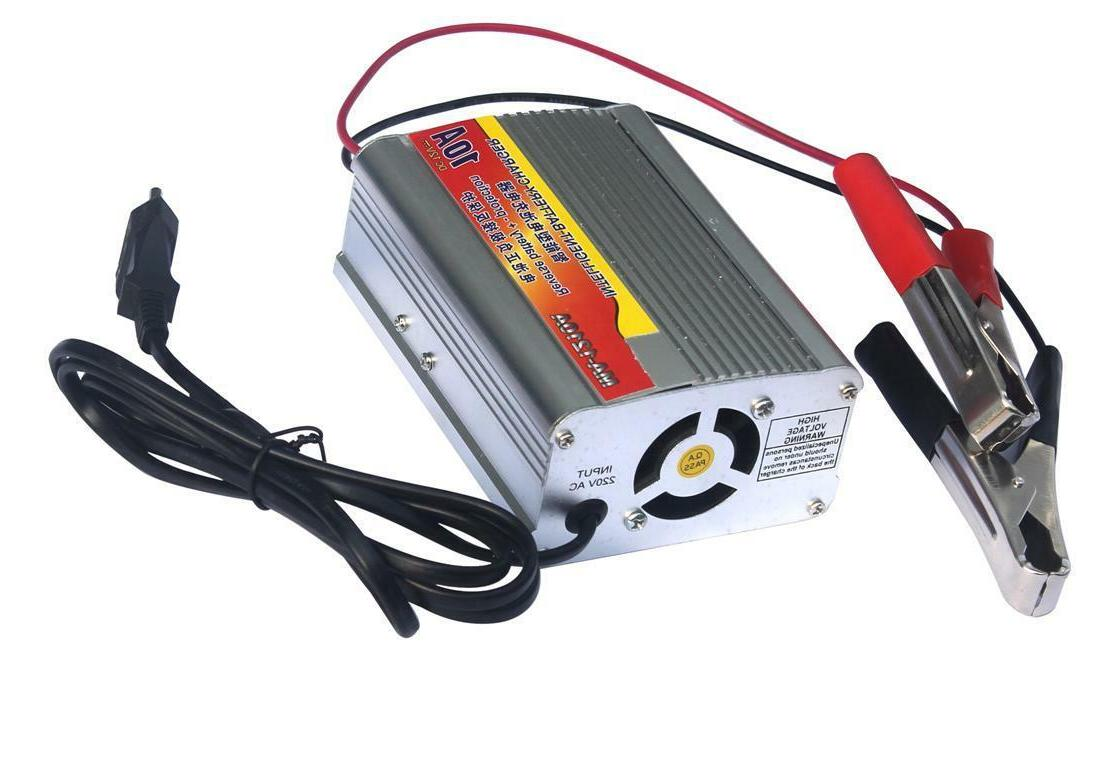 12v 10a car battery charger for 50ah