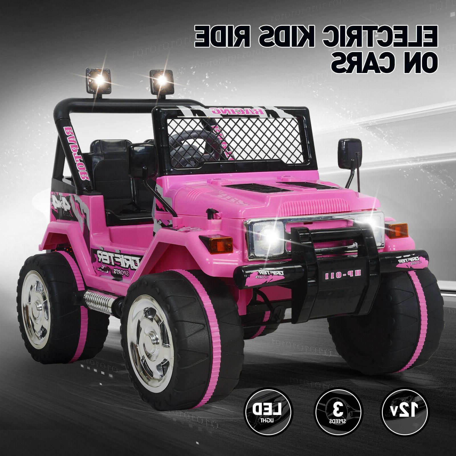 12v electric ride on car kids jeep