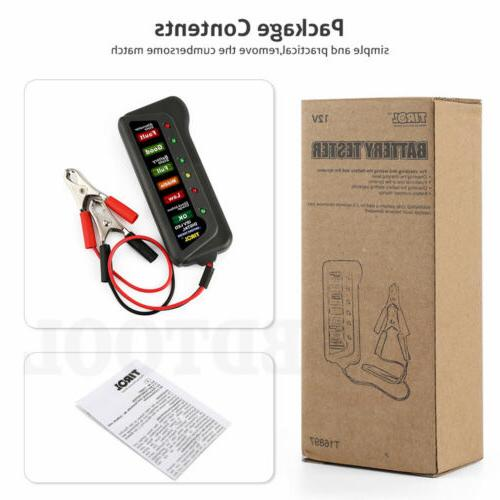 12V LED Load Alternator Diagnostic Scanner