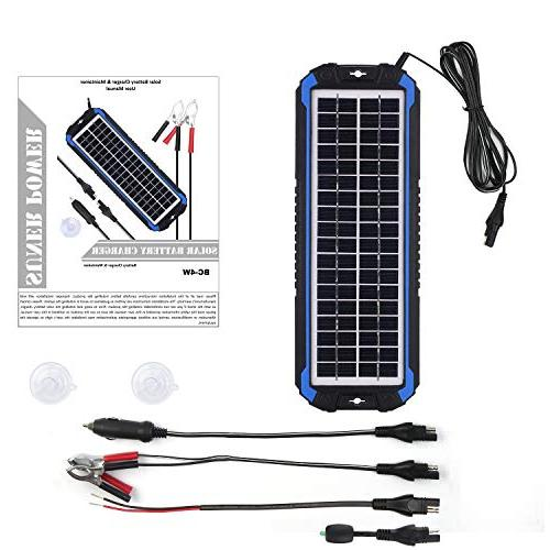 SUNER Car Maintainer Solar Trickle Kit Boat, Marine, Powersports, Snowmobile, etc.