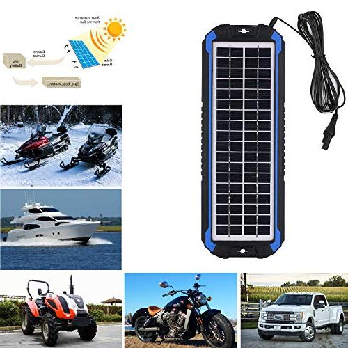 SUNER Car Maintainer - Portable 4W Solar Panel Charging Kit Boat, RV, Trailer, Powersports, Snowmobile,