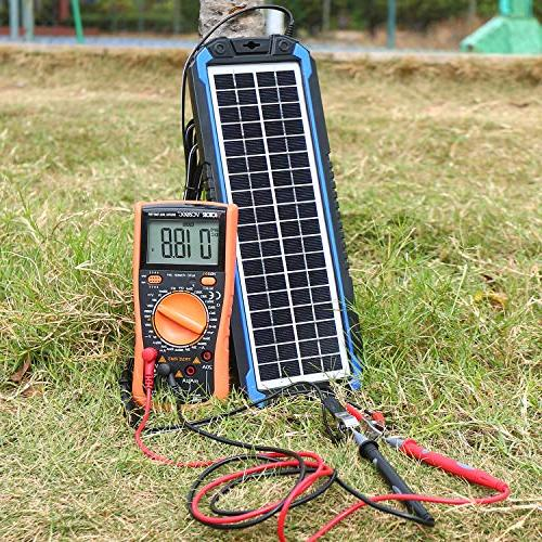 SUNER POWER Car & Maintainer - Solar Panel Trickle Kit for Powersports, Snowmobile, etc.