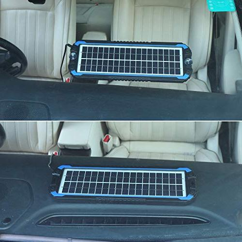 SUNER Car Maintainer - Portable Solar Trickle Kit Automotive, Motorcycle, Boat, Marine, Powersports,