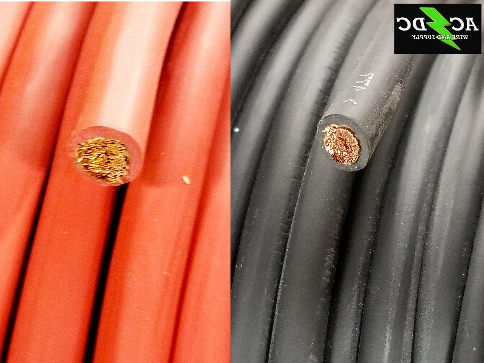 2 gauge awg welding lead and car
