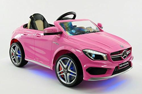 2018 Licensed Kids Ride-ON CAR Toy, Player, LED Wheels, KIT, Removable Baby Table with Parental Remote | Pink
