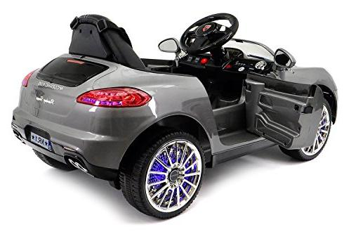 2019 On Car w/ Control for Kids | Power Battery Car with 3 Speeds, Dining Leather Seat -