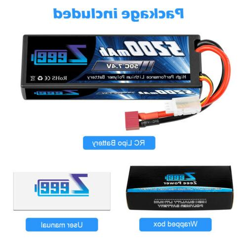 Zeee 50C 2S 5200mAh Deans Plug for RC Car Truck Buggy