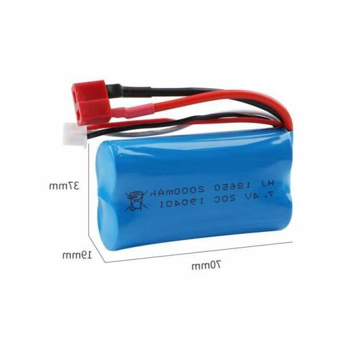 7.4V Lipo Battery Deans T Charger for Truck Buggy