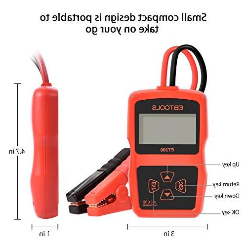 EBTOOLS Car 12V 100-2400 220AH Battery Digital with Load Battery Analyzer for Car/Boat/Motorcycle/SUV/ATV