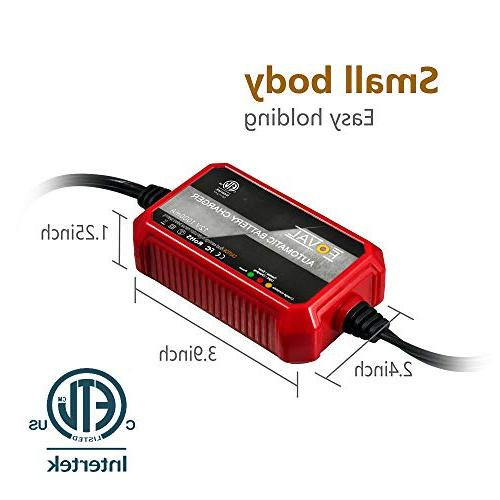 Foval Automatic Trickle Charger 12V 1000mA Battery Charger