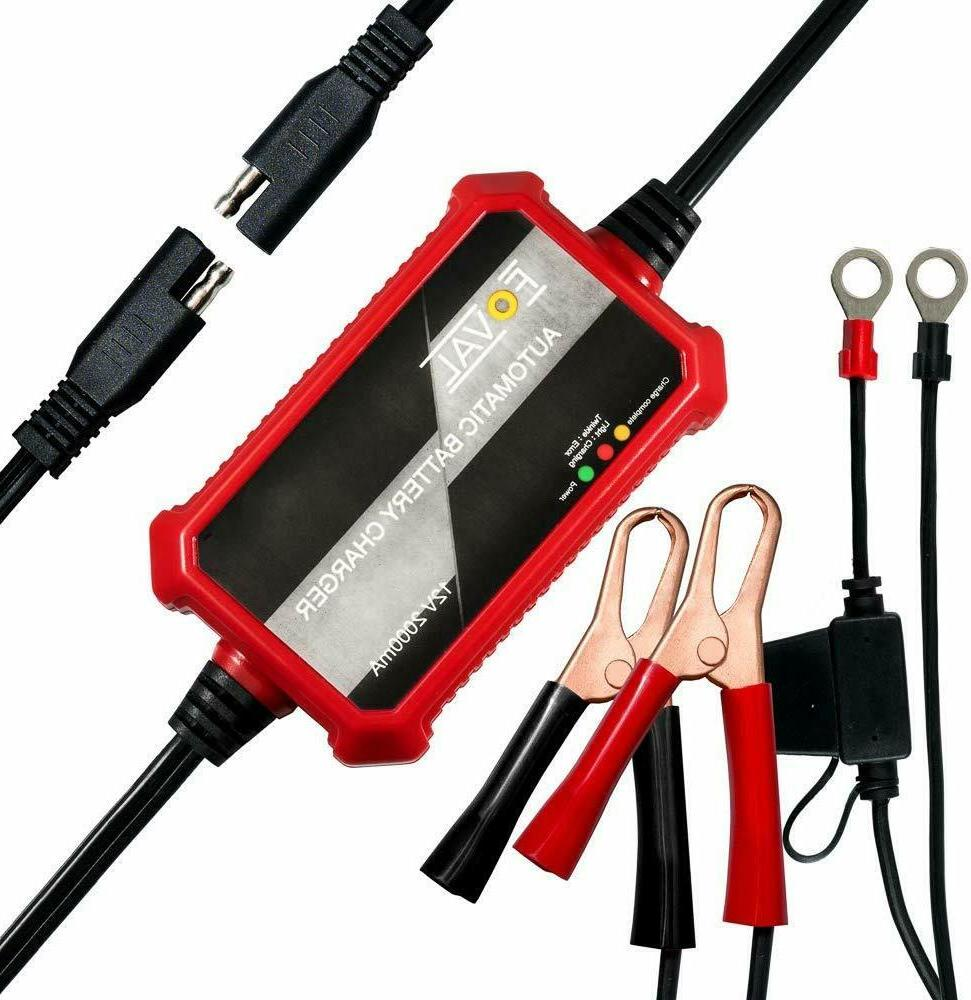 Foval Automatic Trickle Battery Charger 12V 1000mA Smart Bat